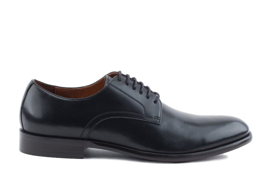 Blake McKay Nolan Plain Toe Derby in Black Side View