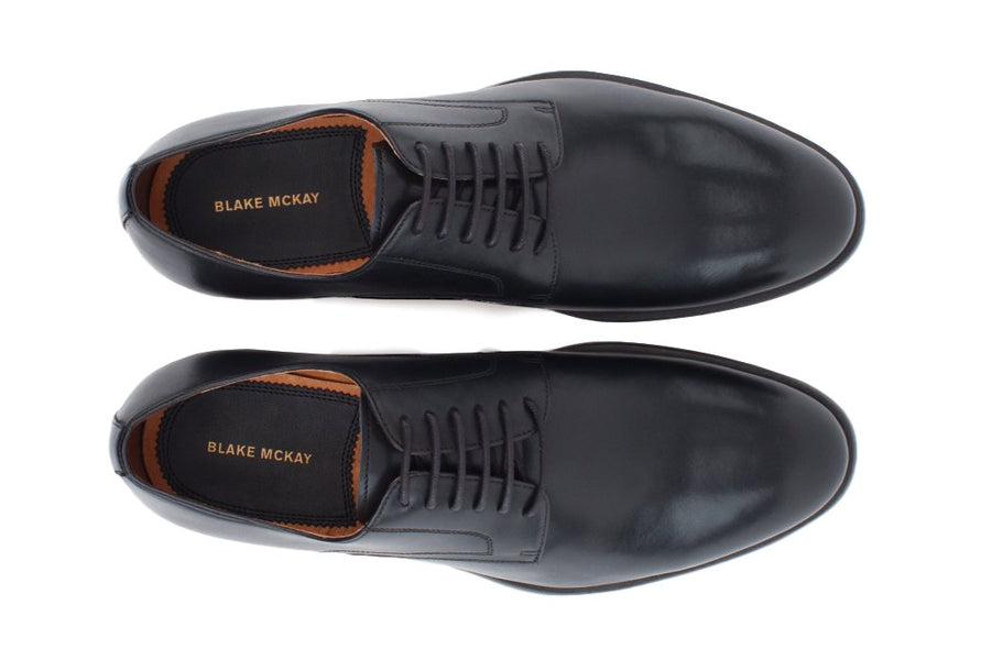 Blake McKay Nolan Plain Toe Derby in Black Bottom View