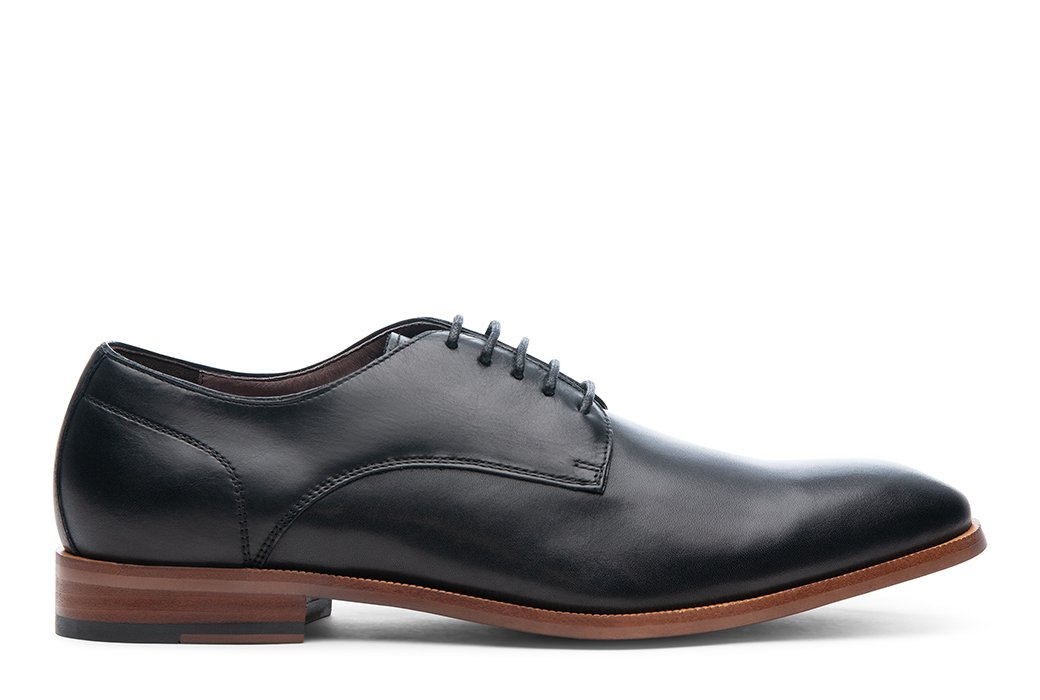 T4 Leather Plain-Toe Derby
