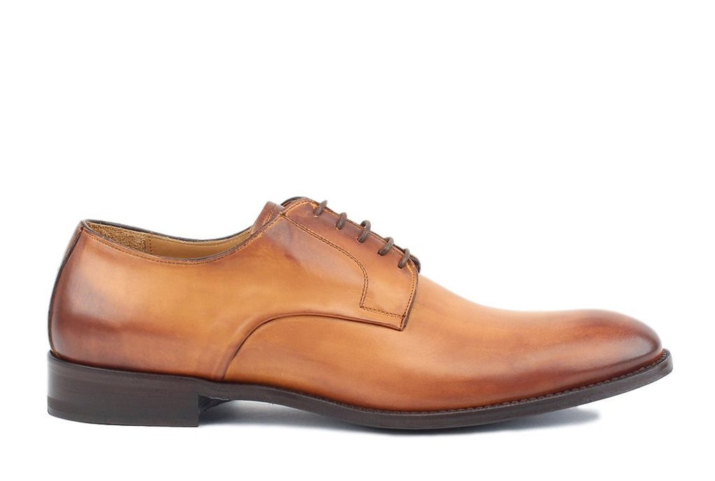 Blake McKay Alessandro Derby Shoe in Cognac Side View