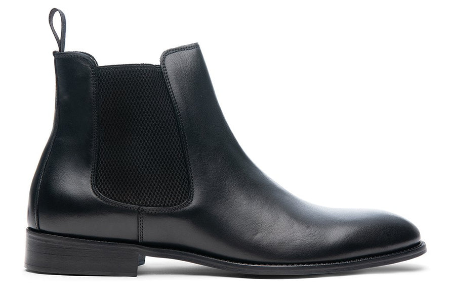 Blake McKay Castello Chelsea Boot in Black Side View