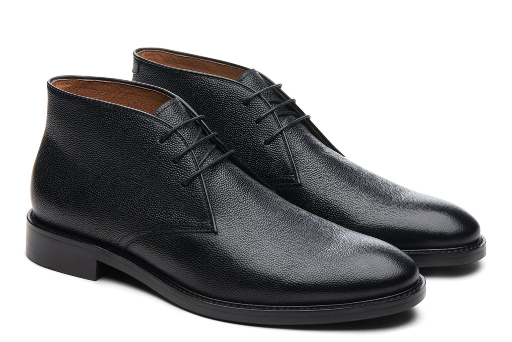 Blake McKay Joel Chukka Boot in Black Side View Pair