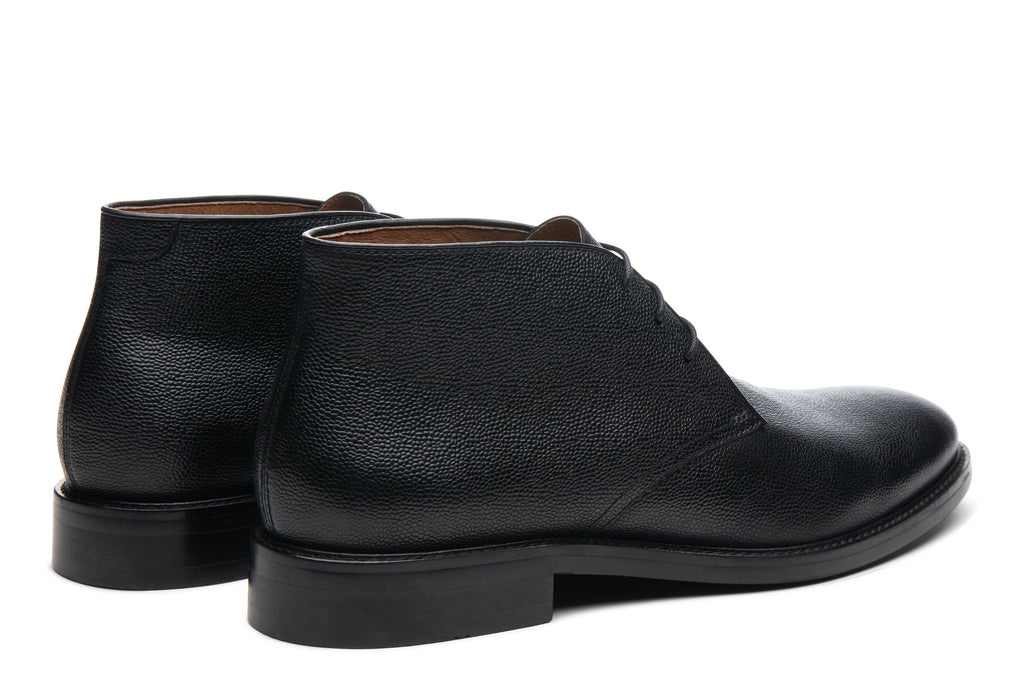 Blake McKay Joel Chukka Boot in Black Rear View Pair