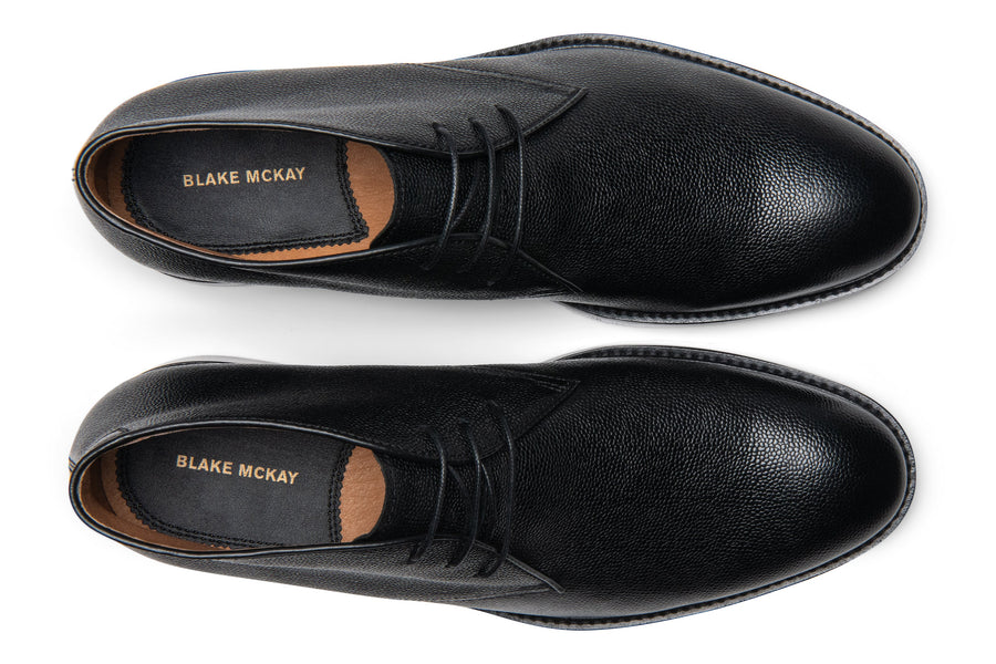 Blake McKay Joel Chukka Boot in Black Top View