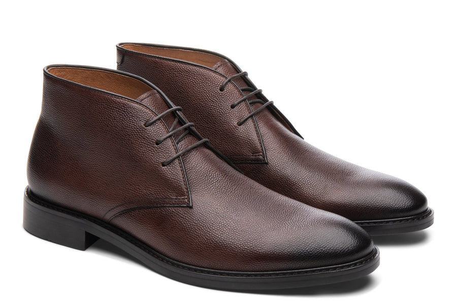 Blake McKay Joel Chukka Boot in Chestnut Side View Pair