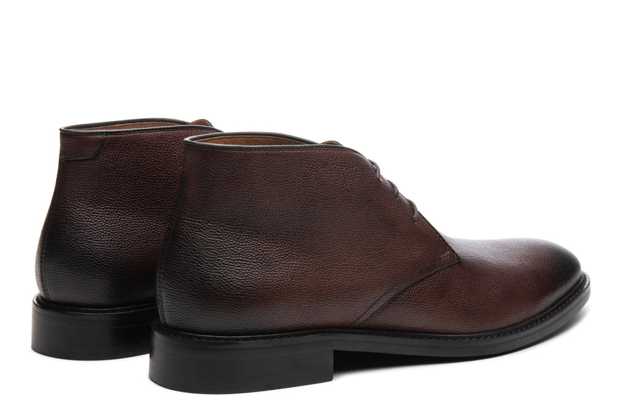 Blake McKay Joel Chukka Boot in Chestnut Rear View Pair