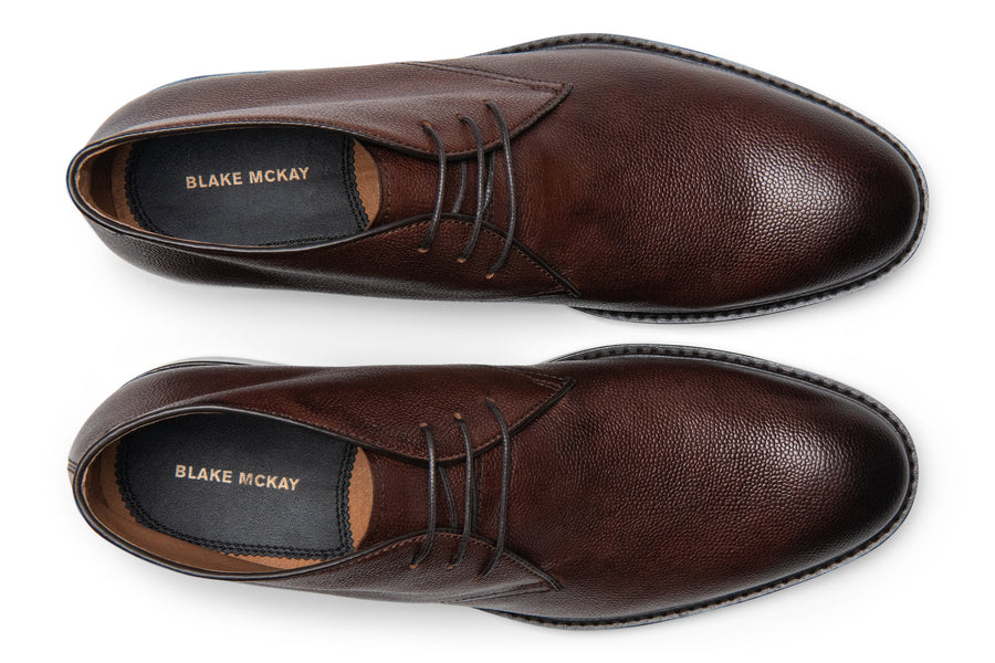 Blake McKay Joel Chukka Boot in Chestnut Top View