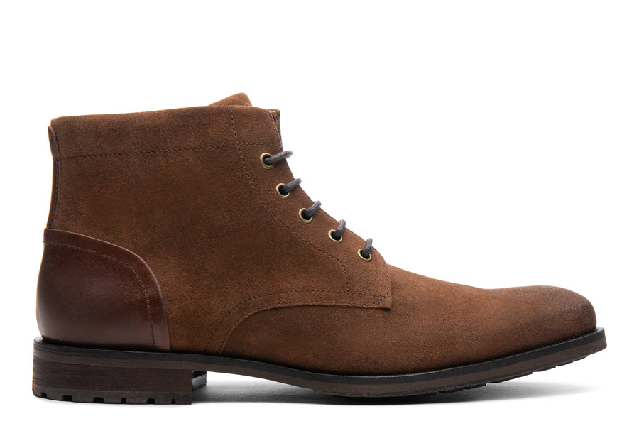 Blake McKay Zachary Boot in Natural/Tobacco Suede Side View