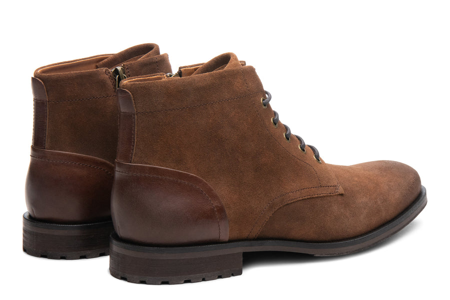 Blake McKay Zachary Boot in Natural/Tobacco Suede Rear View Pair
