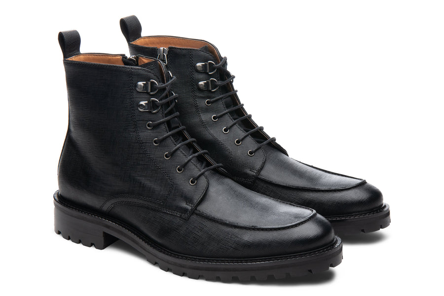 Blake McKay Warren Lug Boot in Black Side View Pair
