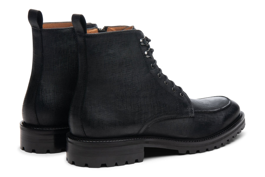 Blake McKay Warren Lug Boot in Black Rear View Pair