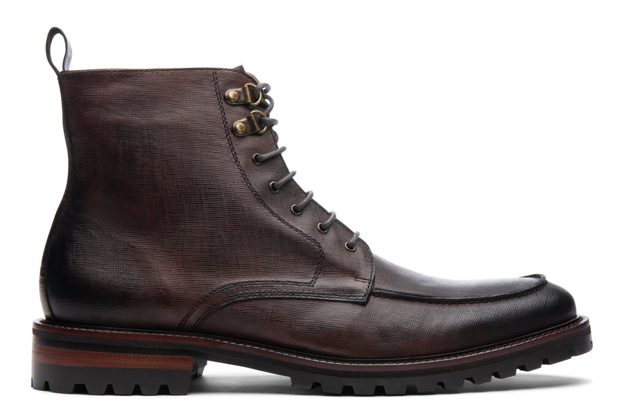 Blake McKay Warren Lug Boot in Chestnut Side View