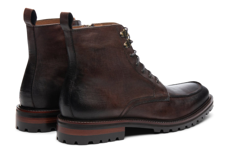 Blake McKay Warren Lug Boot in Chestnut Rear View Pair