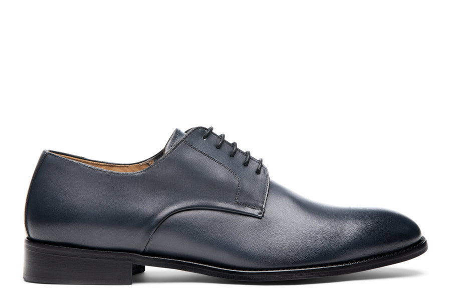 Blake McKay Alessandro Derby Shoe in Dark Grey Side View