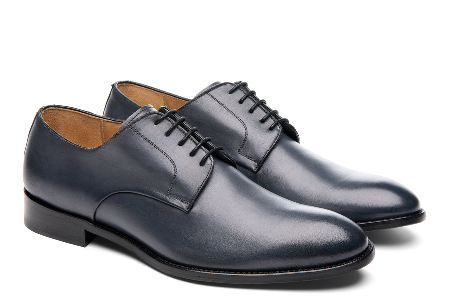 Blake McKay Alessandro Derby Shoe in Dark Grey Side View Pair