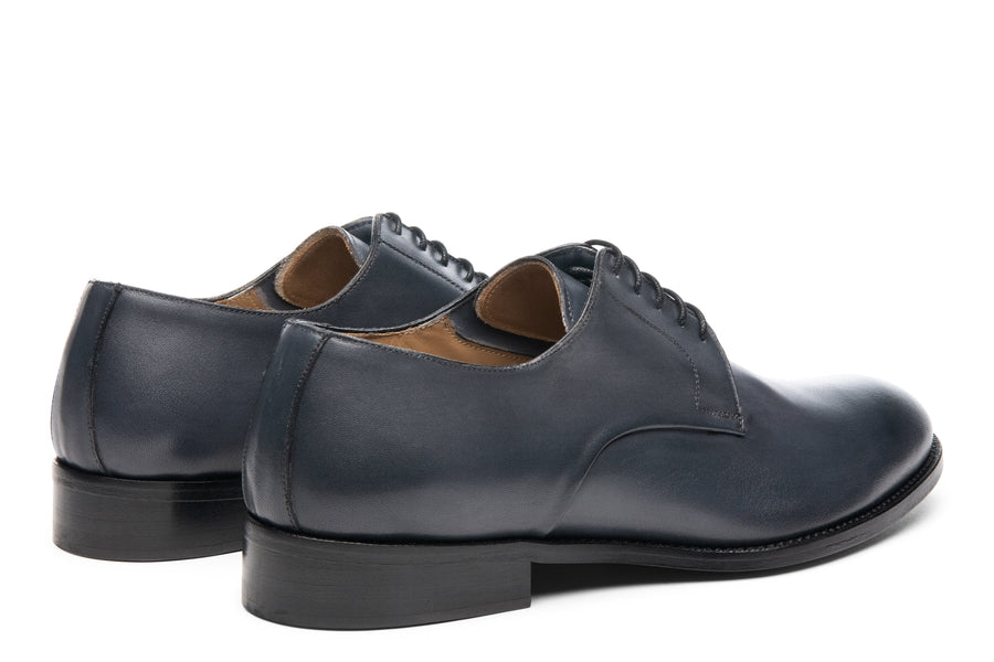 Blake McKay Alessandro Derby Shoe in Dark Grey Rear View Pair