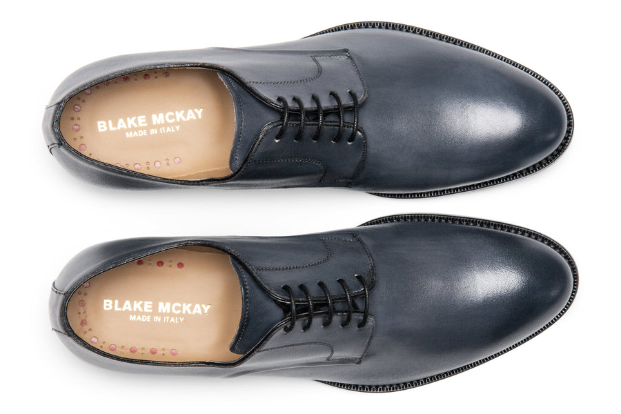 Blake McKay Alessandro Derby Shoe in Dark Grey Top View