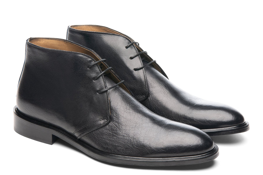 Blake McKay Antonio in Black Leather Side View Pair