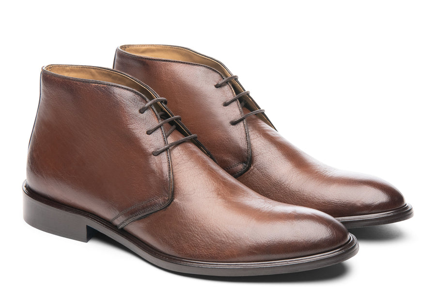 Blake McKay Antonio in Brown Leather Side View Pair