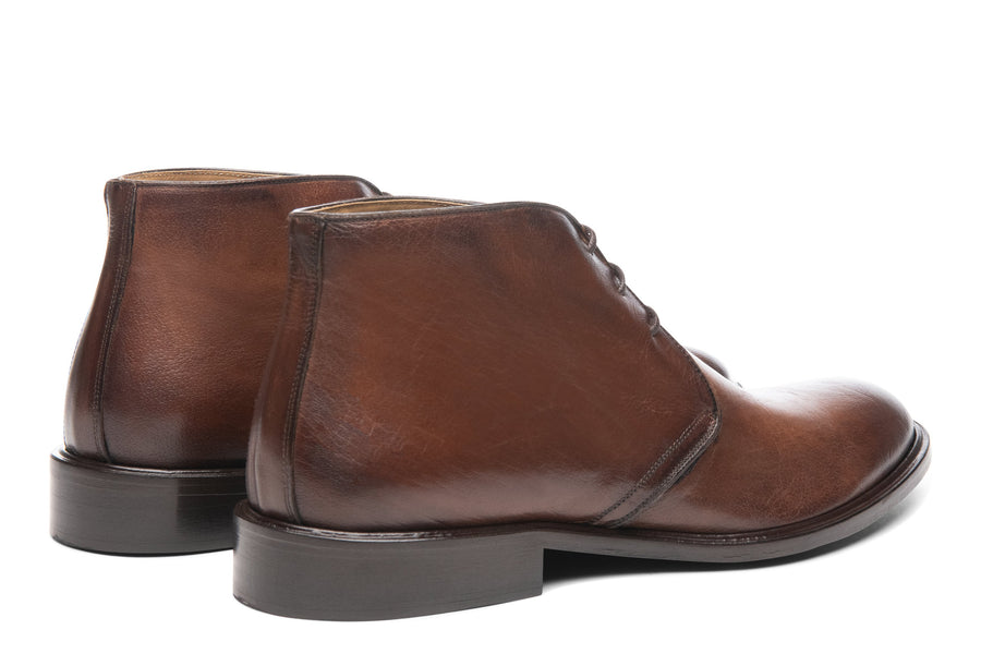 Blake McKay Antonio in Brown Leather Rear View Pair
