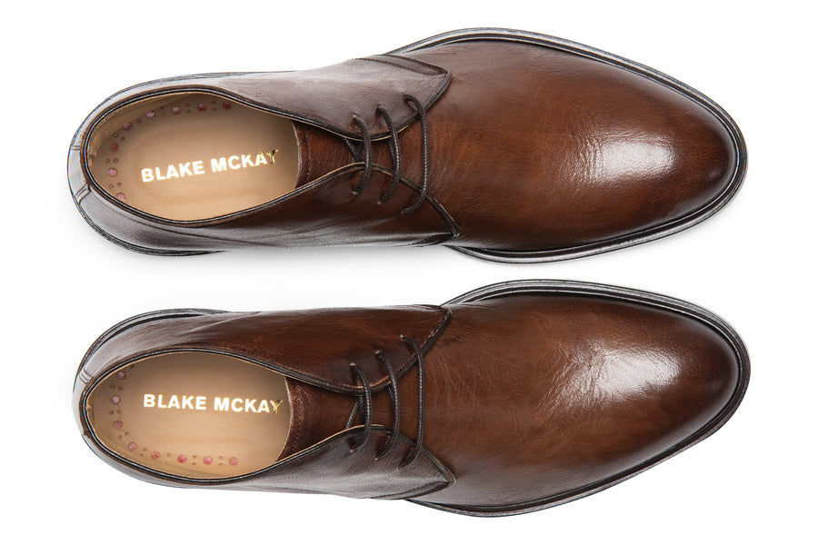 Blake McKay Antonio in Brown Leather Top View