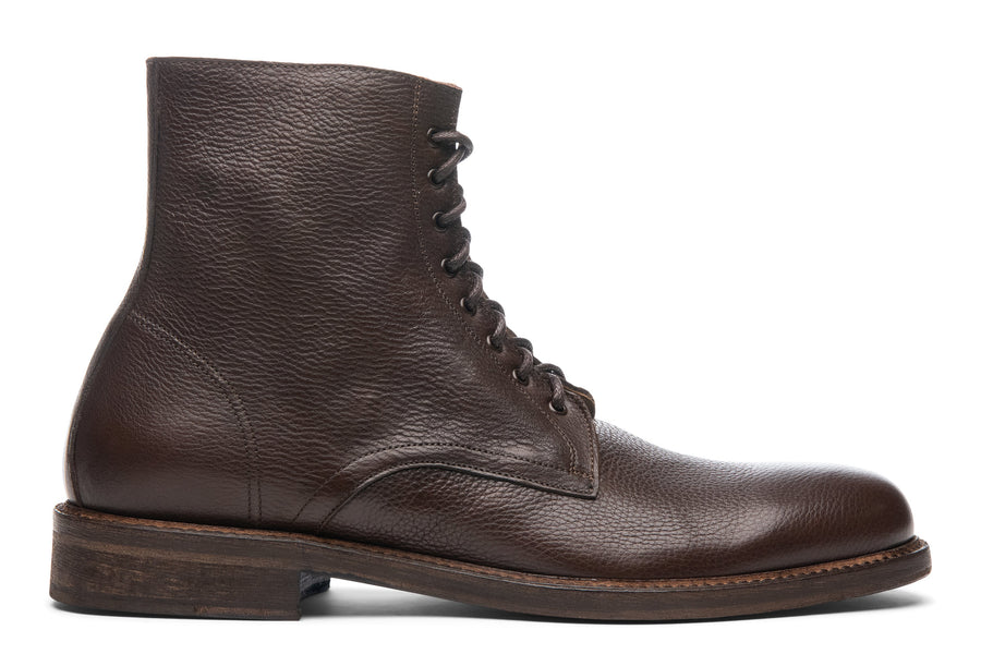 Blake McKay Dante Lace-Up Boot in Chocolate Side View
