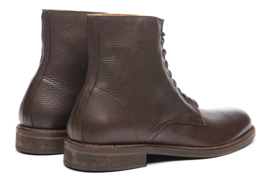 Blake McKay Dante Lace-Up Boot in Chocolate Rear View Pair