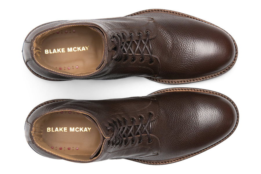 Blake McKay Dante Lace-Up Boot in Chocolate Top View