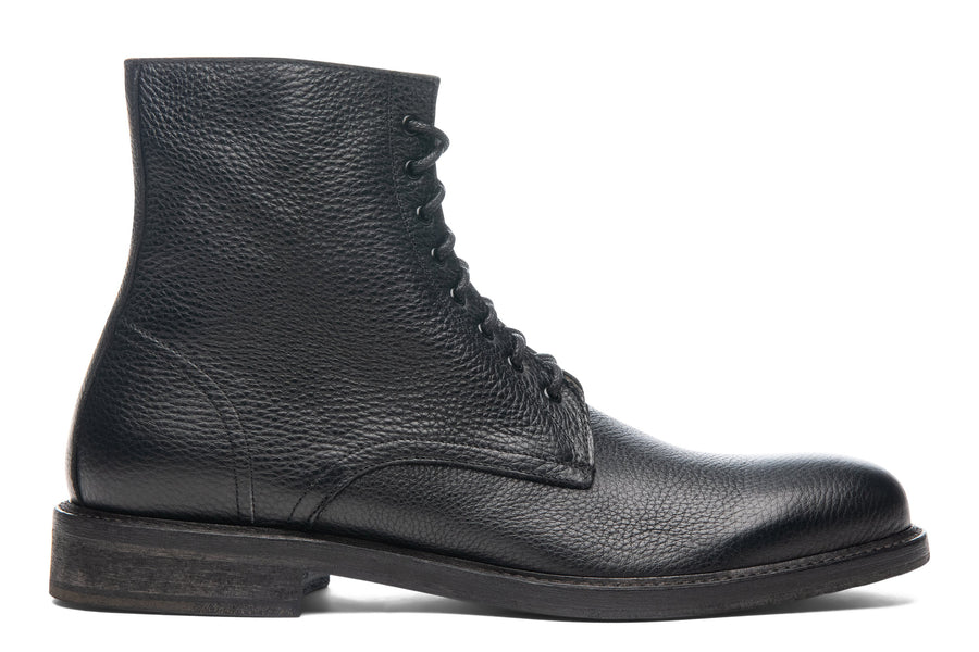 Blake McKay Dante Lace-Up Boot in Black Side View