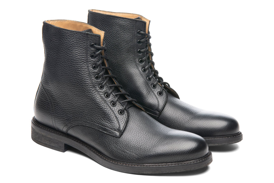 Blake McKay Dante Lace-Up Boot in Black Side View Pair