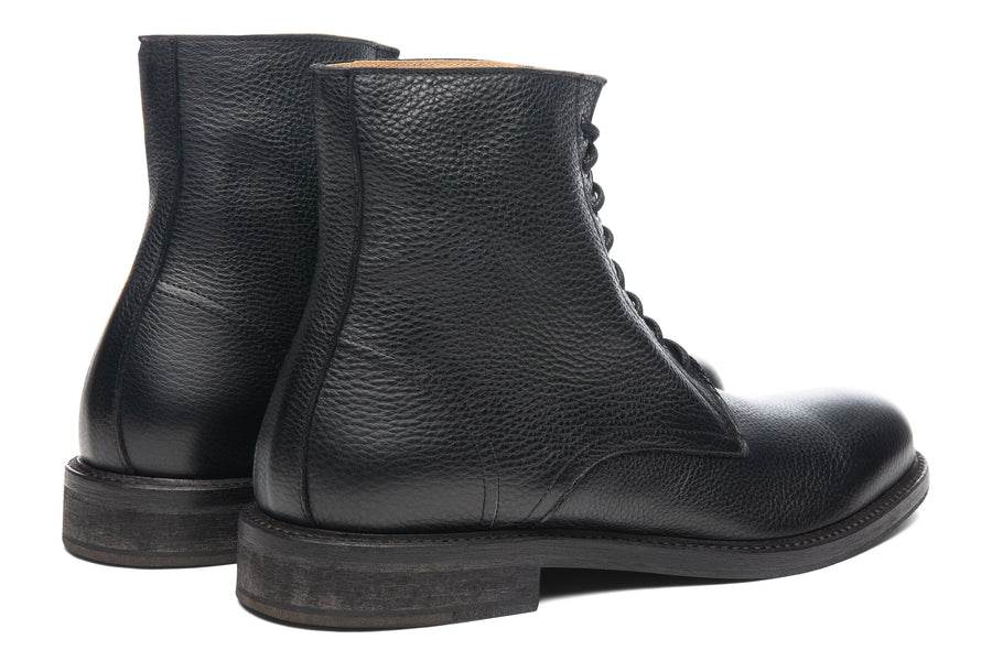 Blake McKay Dante Lace-Up Boot in Black Rear View Pair