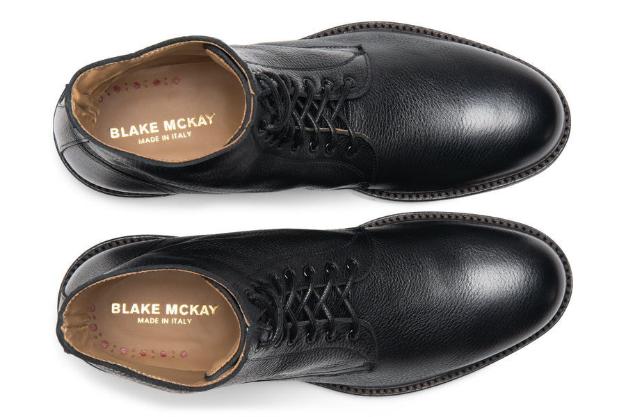 Blake McKay Dante Lace-Up Boot in Black Top View