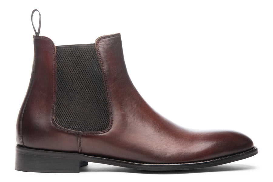 Blake McKay Castello Chelsea Boot in Brandy Side View