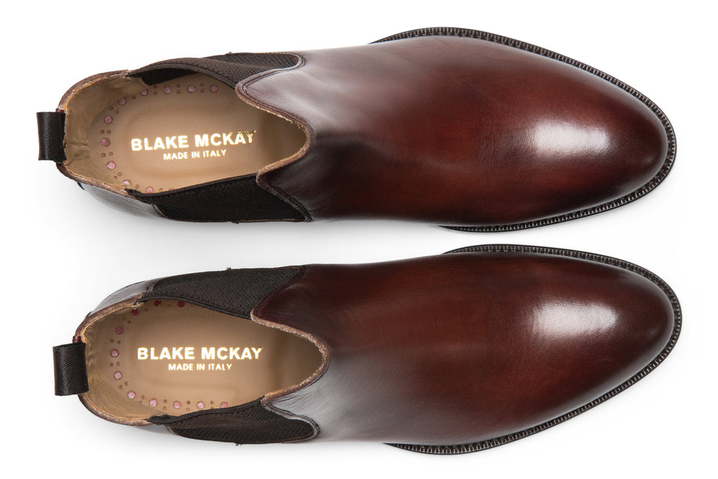 Blake McKay Castello Chelsea Boot in Brandy Top View