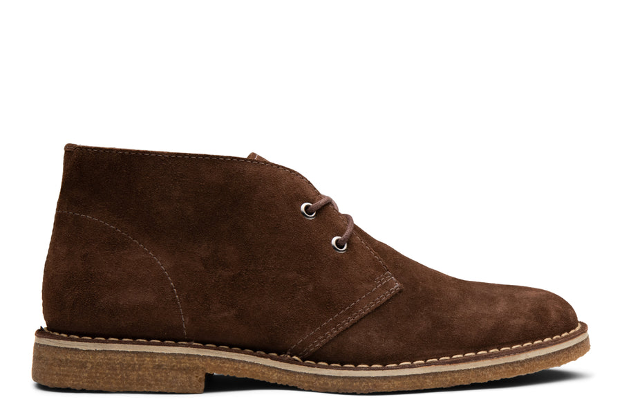 Blake McKay Toby Chukka Boot in Espresso Suede Side View