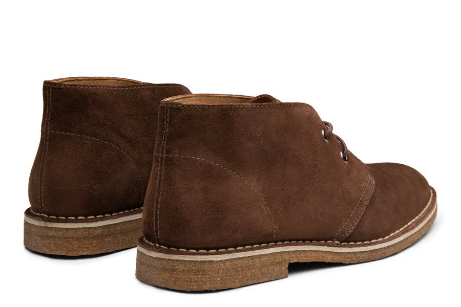 Blake McKay Toby Chukka Boot in Espresso Suede Rear View Pair