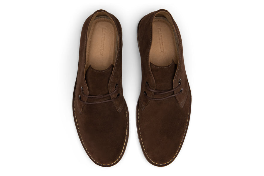 Blake McKay Toby Chukka Boot in Espresso Suede Top View