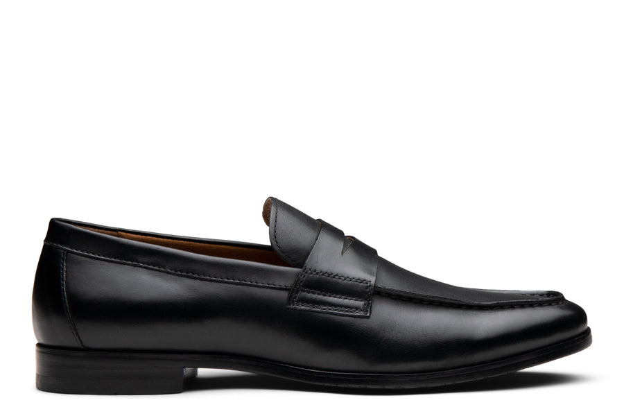 Blake McKay Zane Penny Loafer in Black Side View