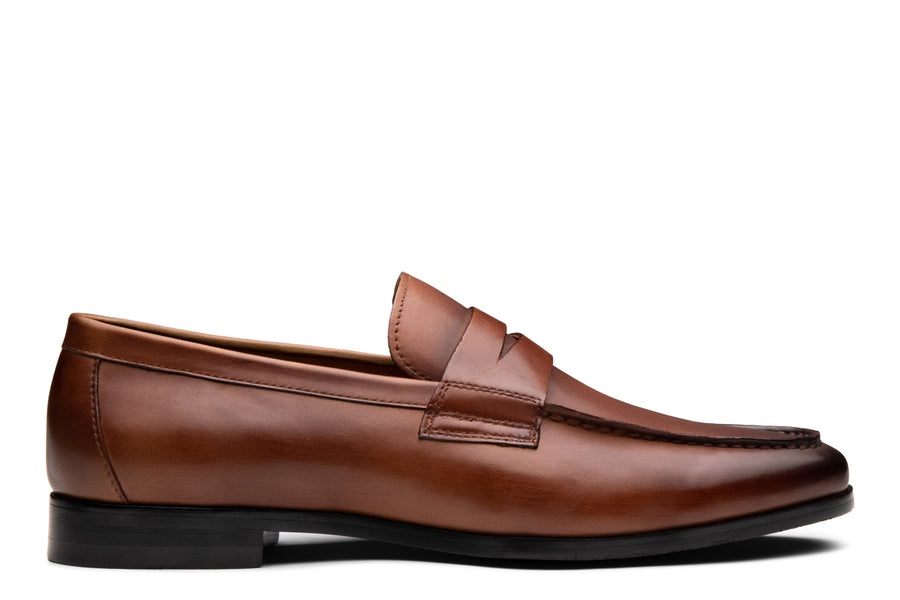 Blake McKay Zane Penny Loafer in Brandy Side View