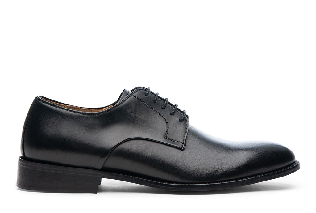 Blake McKay Alessandro Derby Shoe in Black Side View