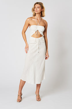 VOYAGE DRAWSTRING DRESS