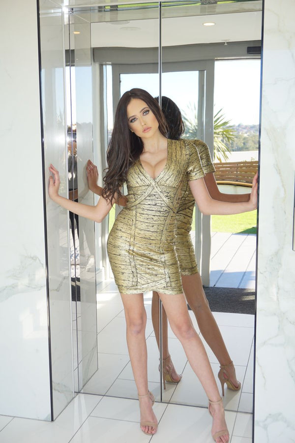 THE GOLD MEMBER MINI DRESS