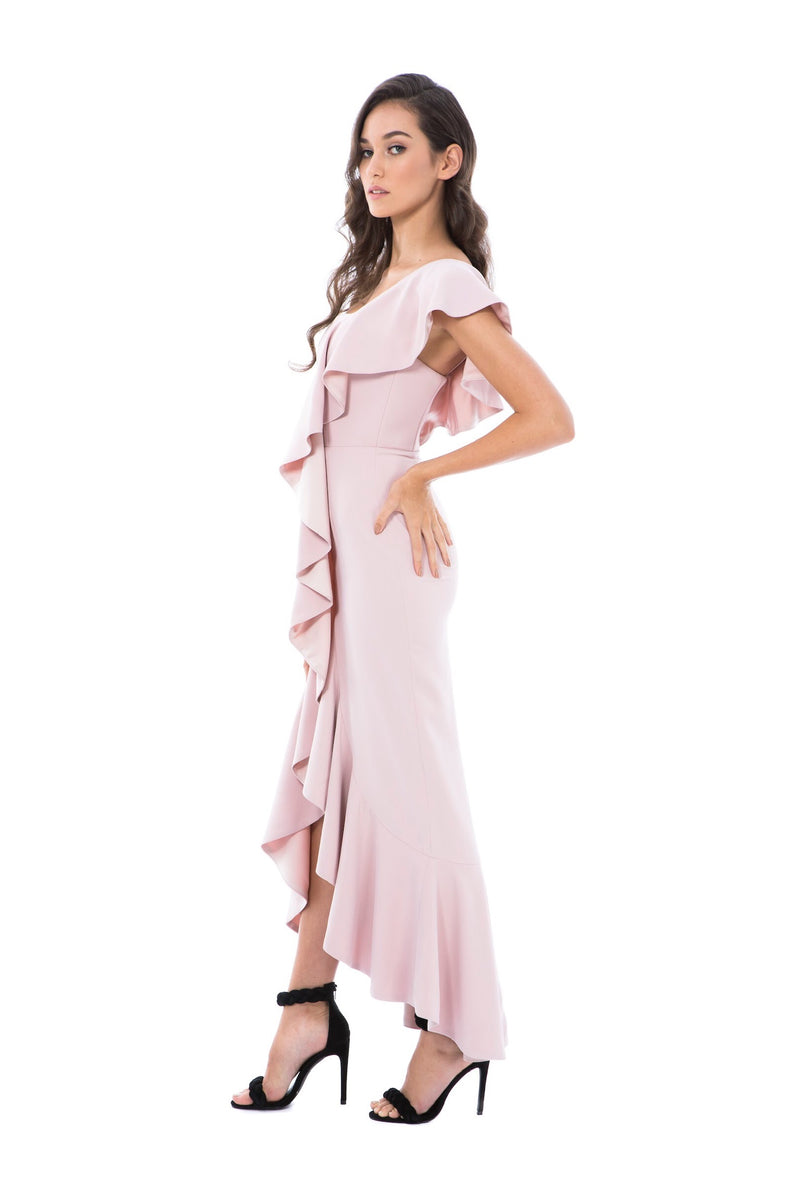 VALENTINA GOWN-PINK-GEORGY COLLECTION-left
