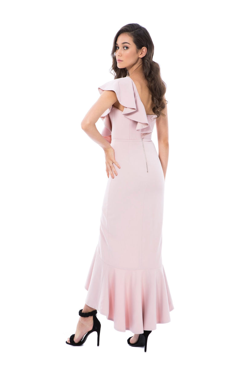 VALENTINA GOWN-PINK-GEORGY COLLECTION-BACK