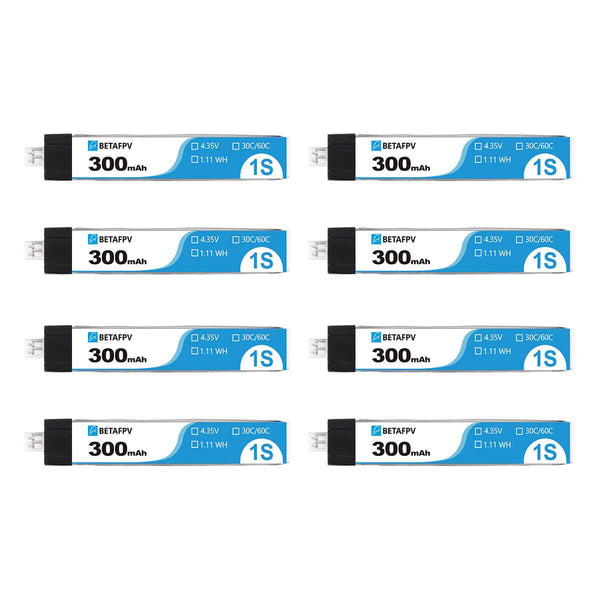 BetaFPV 300mAh 1S 30C Battery Upgraded (8PCS)