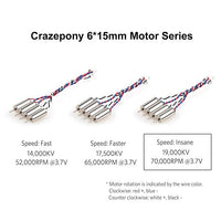 Crazepony Motor (Speed: Faster) 17500KV TW Special Sauce Edition (Pack of 4)