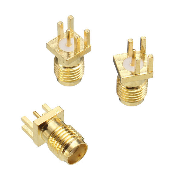 10pcs SMA Female Solder Edge PCB Mount Straight RF Connector Plug