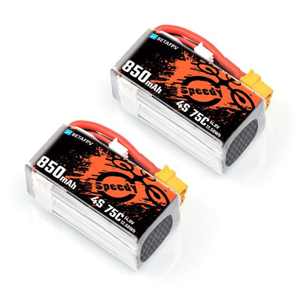 BetaFPV 4S 850mAh 75C Lipo Battery (2 pcs)