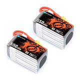 BetaFPV 6S 550mAh 75C Lipo Battery (2 pcs)