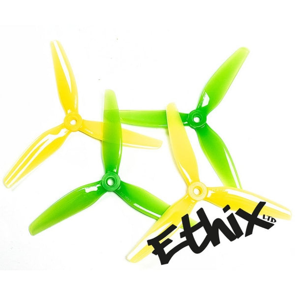HQProp Ethix S4 Lemon Lime (2CW+2CCW) - Poly Carbonate